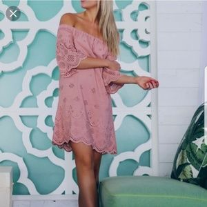 Madewell 0 XS Blush Pink off the Shoulder Dress